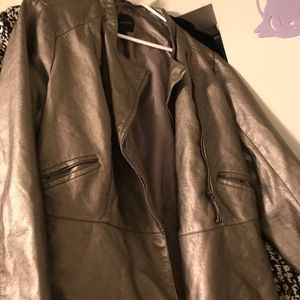 Leather jacket (Champagne color)
